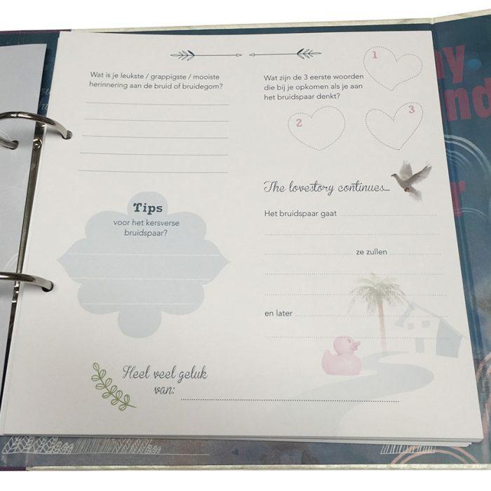invulvellen voor gastenboek huwelijk