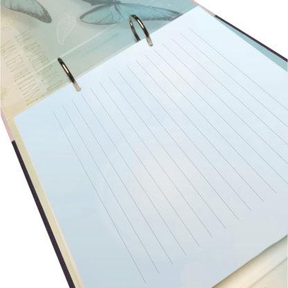 Gelinieerde bladen voor herinneringsboek / condoleanceboek